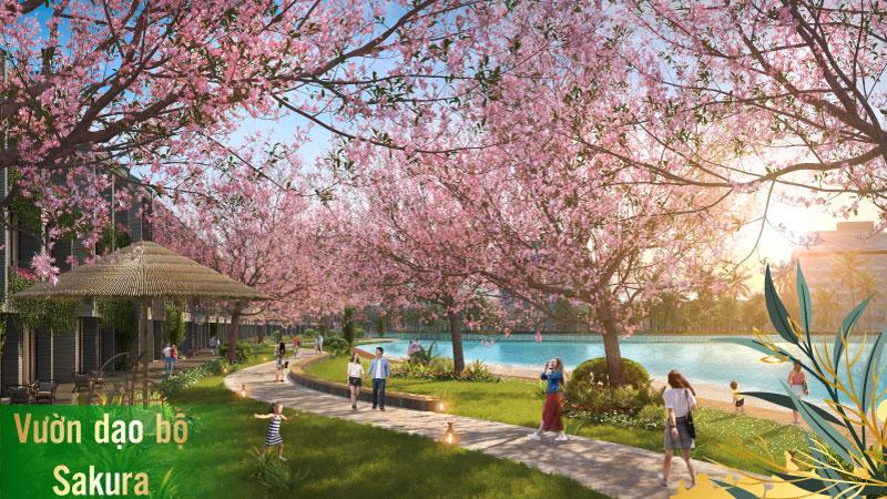 Tiện ích vườn dạo bộ sakura TMS Homes Wonder World